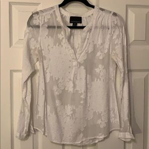 Cynthia Rowley Sheer Floral Blouse